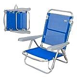 AKTIVE - Chaise Pliante Multiposition Bleu Marine