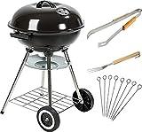MaxxGarden Barbecue à Charbon - BBQ Grill - 45cm + Accessoires