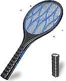 DOUHE Raquette Electrique Insectes, 4000 Volts, USB Raquette Anti Moustique, Lampe de Poche...
