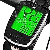 KASTEWILL Compteur de Vélo sans Fil, étanche Ordinateur de Vélo avec Français Rétroéclairage LCD HD D'affichage de L'écran Compteur Kilométrique de Vitesse et Odomètre de Route Chronomètre de Vélo