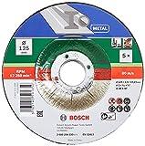 Bosch 5Disque à tronçonner (pour le métal, convient aux meuleuses angulaires portatives dont le...