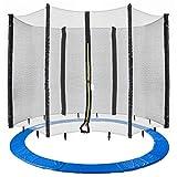 Arebos Coussin de protection pour trampoline + filet / 244, 305, 366, 396, 430, 460 et 490 cm / filet pour 6 ou 8 tiges (305 cm, filet pour 8 tiges)