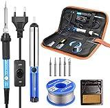 Fer a Souder Kit, SREMTCH 60W Kit de Soudage Électrique de Précision avec Interrupteur On/Off,...