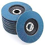 Compartiments Disques │ bleu │ 10 pièces │ Ø125mm │ grain 80 │ Inox │ Disques...