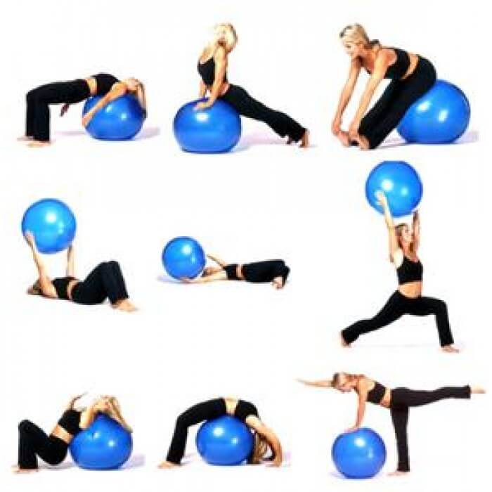 exercices ballon de gym