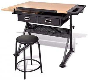 table à dessin réglable ajustable et inclinable